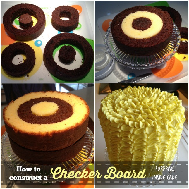 checker cake collage