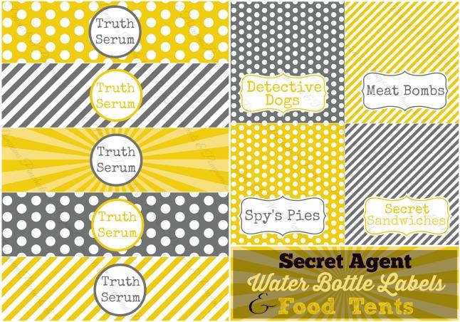 spy label collage