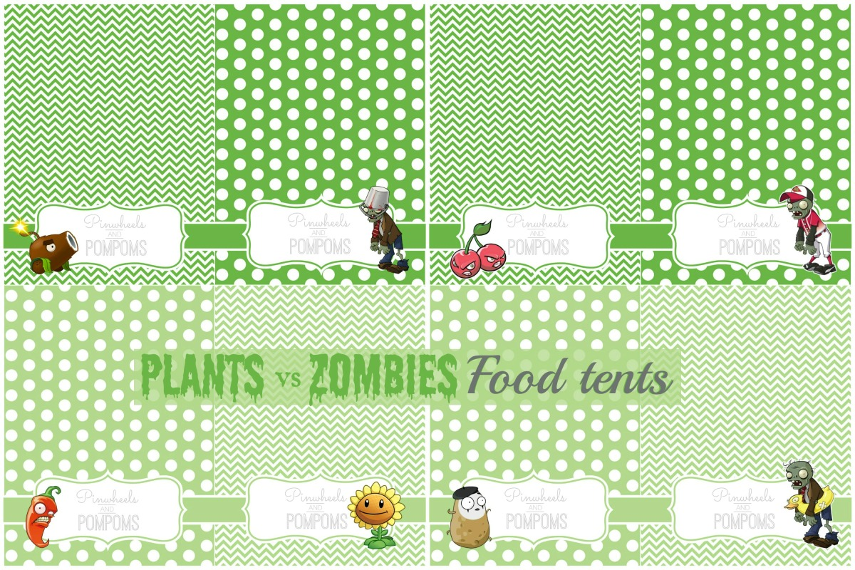 Plants vs Zombies Party Printables