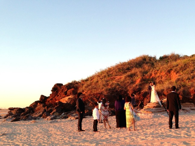 Cable Beach, where red dunes meet white sand. Great spot for wedding photos!